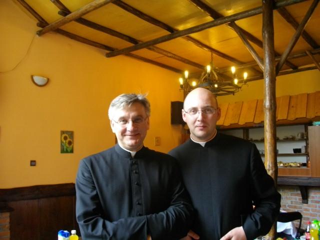 z ks. Lucjanem, pierwszym proboszczem mojej rodzinnej parafiii