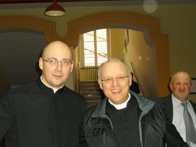 z ks. Januszem, obecnym proboszczem mojej rodzinnej parafii